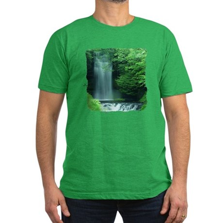 Waterfalls Men's Fitted T-Shirt (dark)