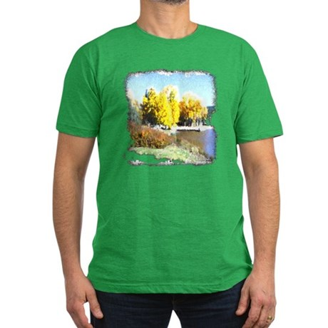 Autumn Lake Men's Fitted T-Shirt (dark)