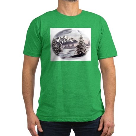 Snow Mountain Men's Fitted T-Shirt (dark)