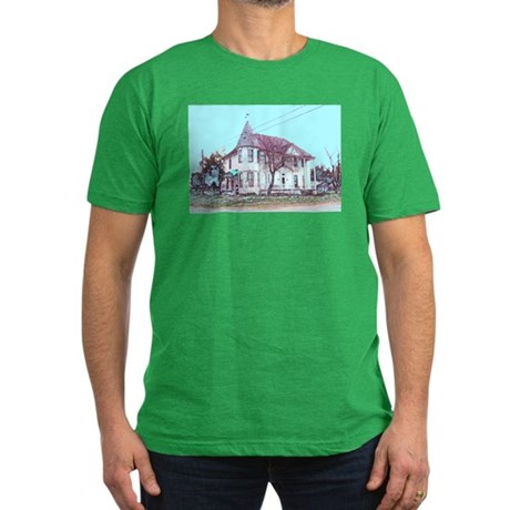 Old House on the Corner Men's Fitted T-Shirt (dark