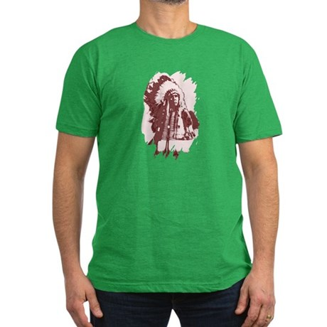 Indian Chief Men's Fitted T-Shirt (dark)