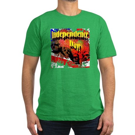 Independence Day Men's Fitted T-Shirt (dark)