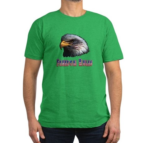 Freedom Rules Eagle Men's Fitted T-Shirt (dark)