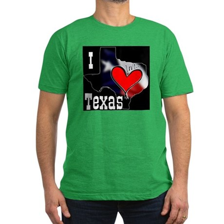 I Love Texas Men's Fitted T-Shirt (dark)