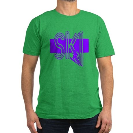 Ski Purple Men's Fitted T-Shirt (dark)