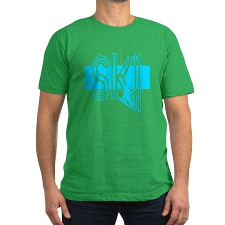 Ski Powder Blue Men's Fitted T-Shirt (dark)