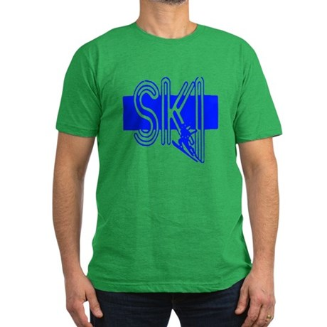 Ski Blue Men's Fitted T-Shirt (dark)