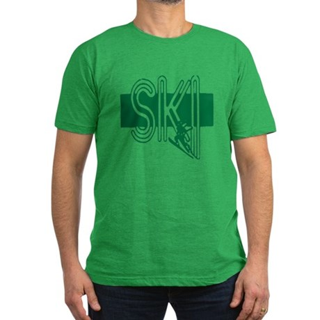Ski Green Men's Fitted T-Shirt (dark)