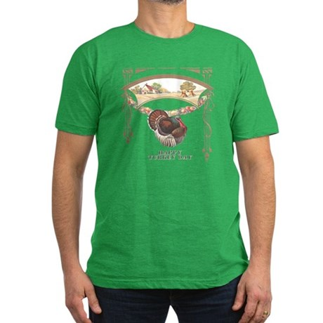 Turkey Day Men's Fitted T-Shirt (dark)