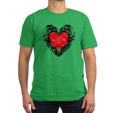 Pretty Grunge Heart Men's Fitted T-Shirt (dark)