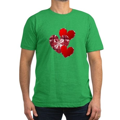 Country Hearts Men's Fitted T-Shirt (dark)