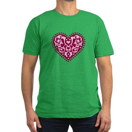 Fancy Heart Men's Fitted T-Shirt (dark)
