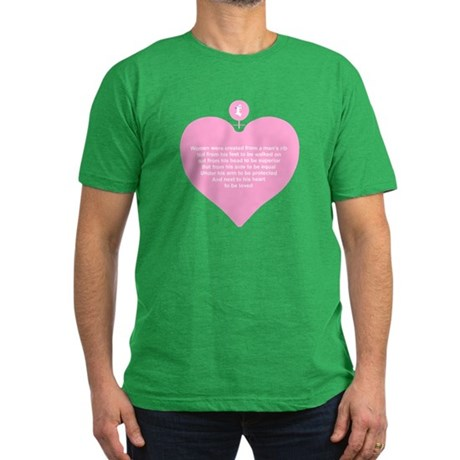 Pink Heart Men's Fitted T-Shirt (dark)