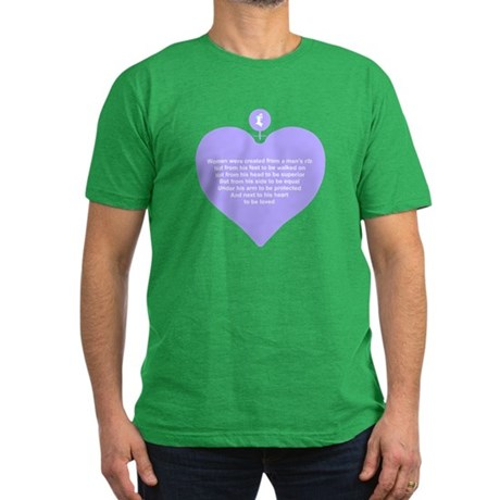 Purple Heart Men's Fitted T-Shirt (dark)