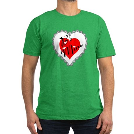 Lacy Heart Men's Fitted T-Shirt (dark)