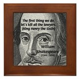 William Shakespeare Framed Tile