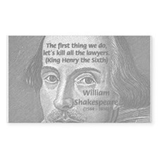 William Shakespeare Rectangle Decal