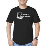 Swap Happens Men's Fitted T-Shirt (dark)