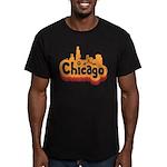 Retro Chicago Men's Fitted T-Shirt (dark)