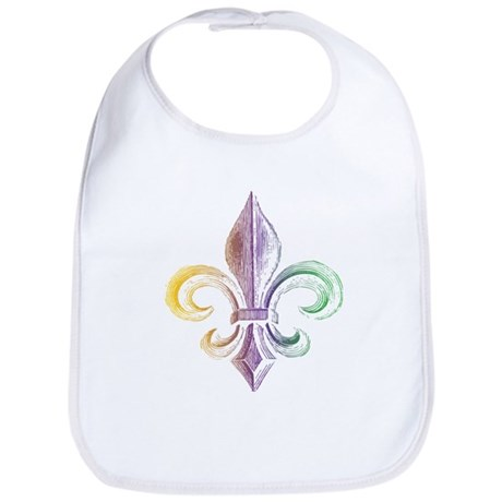 Mardi Gras Fleur De Lis Bib