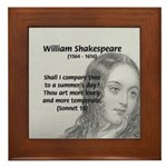 Shakespeare: Beauty of Juliet Framed Tile
