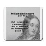Shakespeare: Beauty of Juliet Mousepad