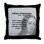 Shakespeare: Beauty of Juliet Throw Pillow
