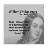 Shakespeare: Beauty of Juliet Tile Coaster