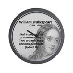 Shakespeare: Beauty of Juliet Wall Clock