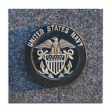 Funny U.s.navy Tile Coaster