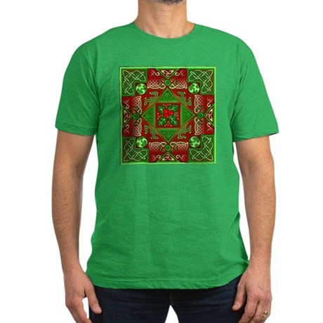 Celtic Labyrinth Holly Men's Fitted T-Shirt (dark)