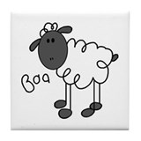 Baa Sheep Tile Coaster