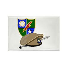 Army Ranger Beret Dagger Rectangle Magnet