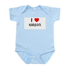 I LOVE KARSON Infant Creeper