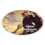 Tragedy of Hamlet Oval Sticker