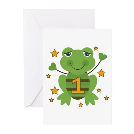 Age 1 Frog Greeting Cards (Pk of 20)