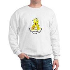 Flower Ribbon BLADDER CANCER Sweatshirt