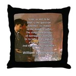 Hamlet Famous Soliloquy Throw Pillow