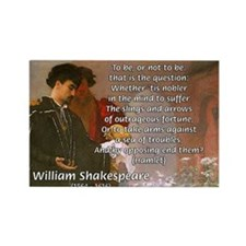 Hamlet Famous Soliloquy Rectangle Magnet