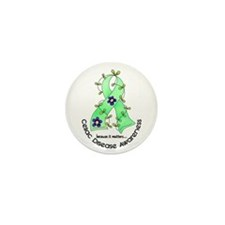 Flower Ribbon CELIAC DISEASE Mini Button (10 pack)