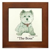 """The Boss"" Westhighland White Terrier Framed Tile"