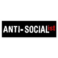 Anti-Socialist Bumper Bumper Sticker