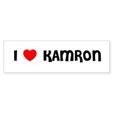 I LOVE KAMRON Bumper Bumper Sticker