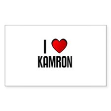 I LOVE KAMRON Rectangle Decal