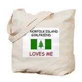 My Norfolk Island Girlfriend Loves Me Tote Bag