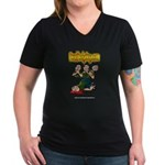 Official Dead Body Guy Women's V-Neck Dark T-Shirt