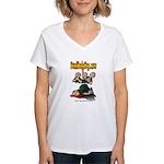 Official Dead Body Guy Women's V-Neck T-Shirt