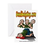 Official Dead Body Guy Greeting Card
