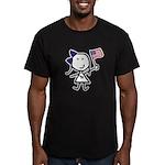 Girl & Democrat Men's Fitted T-Shirt (dark)