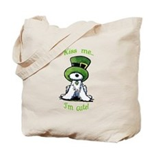 Kiss Me St. Patty's Westie Tote Bag